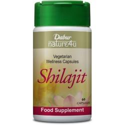 Dabur Nature4u Shilajit Suplemento Alimentar (Cápsulas Vegetarianas)