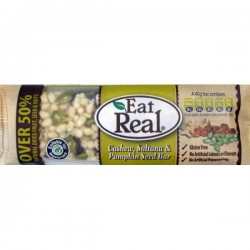 Eat Real Barras de Fruitos secos ( Cashew, Sultana & Pumpkin Seed Bar)