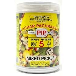 Achar de Mistura Pachranga (Pachranga Mixed Pickle)