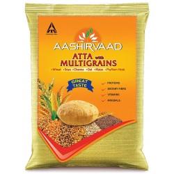 Farinha de Trigo Com Multigrãos Aashirvaad (Atta With Multigrains)