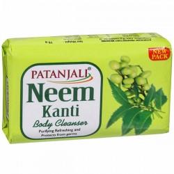 Sabonete Corporal de Folha de Caril Verde Patanjali (Neem Kanti Body Cleanser Soap)