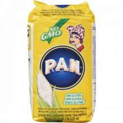 Farinha de Milho Inteiro Moído Branco P.A.N. 1kg