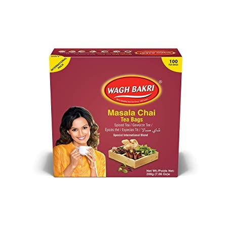 Chá Especiarias Wagh Bakri 100Saq. (Wagh Bakri Masala Chai)200g