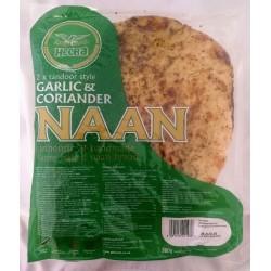 Pão Indiano com Alho e Coentro HEERA ( Garlic and Coriander Naan)