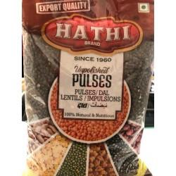 HATHI Lentilha Preta Inteira (Urid Whole) 1kg